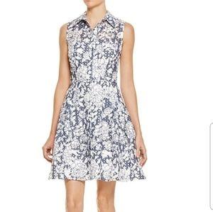 "Betsey Johnson ""floral & grid"" burnout dress"